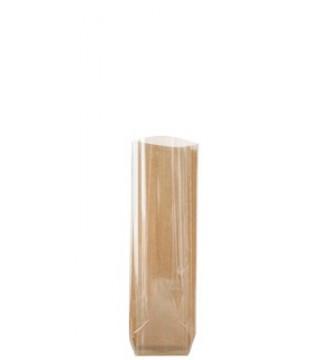 Halvtransparent cellofanpose med papbund, 10x22 cm - emballage