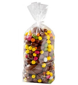Cellofanpose med papbund, 17x32 cm - emballage