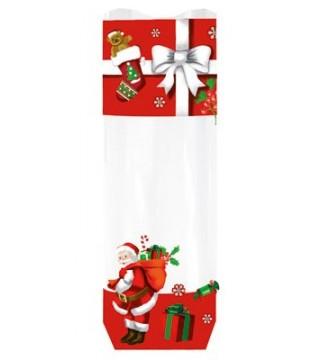 Cellofanpose med julemandsmotiv