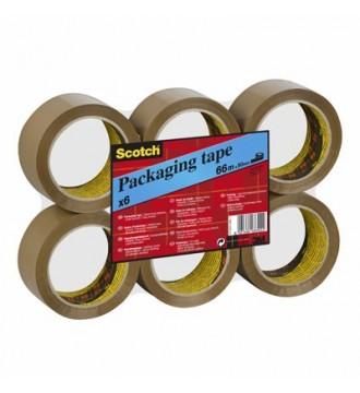 Pakketape, Scotch, 50 mm, Brun - emballage