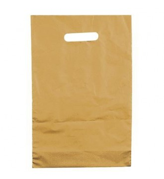 Guldfarvet plastikpose 22x30 cm - emballage