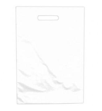 Hvid plastikpose 25x4x38 cm - emballage