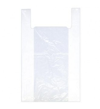 Hvid plastpose 26x6/6x45 cm - emballage