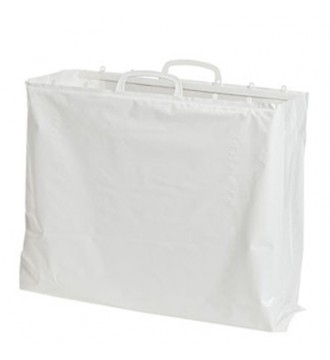 Hvid plastikpose 50x5/5x45 cm - emballage