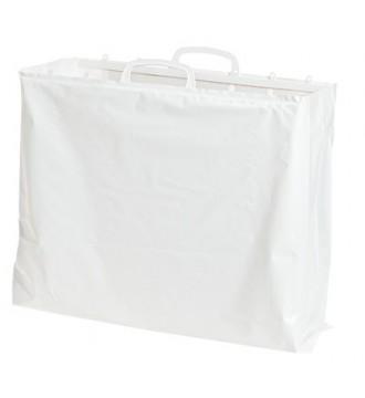 Hvid plastikpose 60x10/10x60 cm - emballage