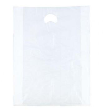 Hvid plastpose 70x15/15x65 cm - emballage