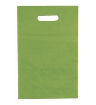 Limegrøn plastikpose 25x4x38 cm - emballage