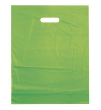 Limegrøn plastikpose 50x5x50 cm - emballage