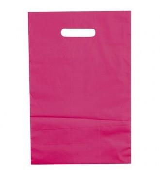 Fuchsiafarvet plastikpose 25x4x38 cm - emballage