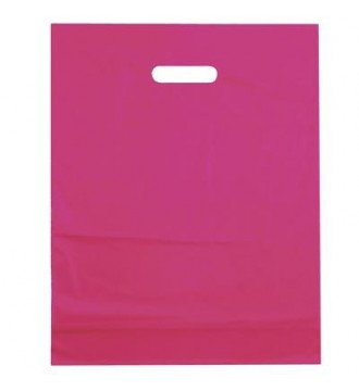 Fuchsiafarvet plastikpose 50x5x50 cm - emballage