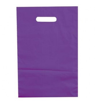 Lilla plastikpose 25x4x38 cm - emballage