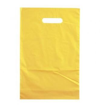 Gul plastikpose 35x4x45cm - emballage