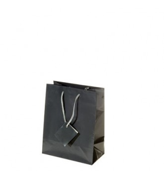 Brilliant antrasit grå papirspose, 8,1x3,3x10,8 cm brilliant antrasit grå - emballage