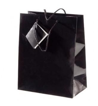 Brilliant sort papirpose 26x12,7x32,4 cm - emballage