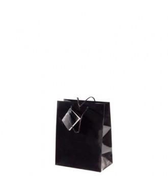 Brlliant sort papirpose, 8,1x3,3x10,8 cm, brilliant sort - emballage