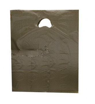 Plastikpose med Guld print 25x3/3x34 cm