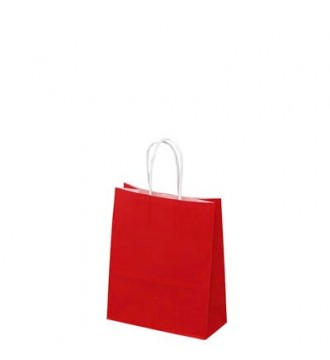 Rød papirspose 19x8x24 cm - emballage