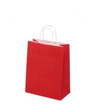 Rød papirspose 24x12x31 cm - emballage