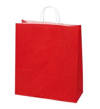 Rød papirspose 35x14x44 cm - emballage