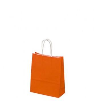 Orange papirspose 19x8x24 cm - emballage