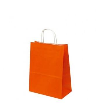 Orange papirspose 24x12x31 cm - emballage