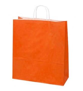 Orange papirspose 35x14x44 cm - emballage