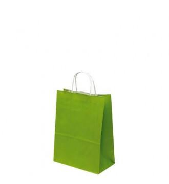 Limegrøn papirspose 19x8x24 cm - emballage