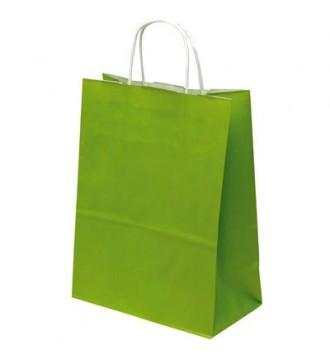 Limegrøn papirspose 35x14x44 cm - emballage
