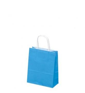 Turkisfarvet papirspose 19x8x24 cm - emballage