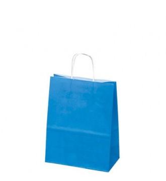Turkisfarvet papirspose 24x12x31 cm - emballage