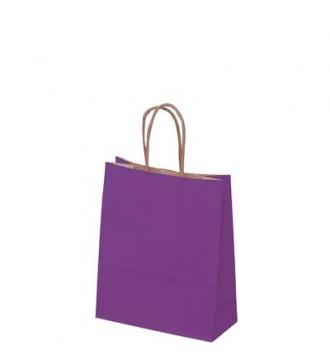 Auberginefarvet papirspose 19x8x24 cm - emballage