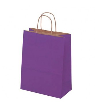 Auberginefarvet papirspose 24x12x31 cm - emballage