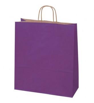Auberginefarvet papirspose 35x14x44 cm - emballage