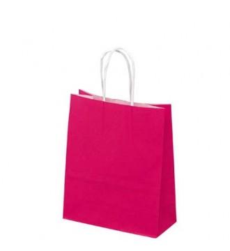 Fuchsiafarvet papirspose 19x8x24 cm - emballage