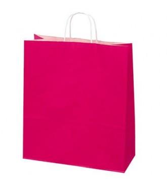 Fuchsiafarvet papirspose 35x14x44 cm - emballage