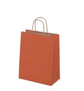 Terracottafarvet papirspose 24x12x31 cm - emballage