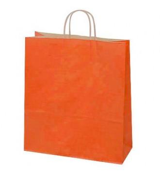 Terracottafarvet papirspose 35x14x44 cm - emballage