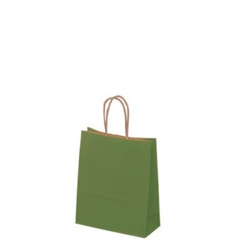 Olivengrøn papirspose 19x8x24 cm - emballage