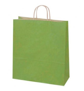Olivengrøn papirspose 35x14x44 cm - emballage