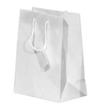Brilliant hvid papirpose, 32x10,2x44,5 cm, brilliant hvid - emballage