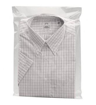 Textilpose. M/selvklæb 40x60cm. TRANSPARENT - emballage