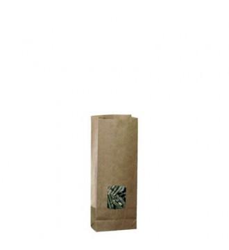 Papirpose til 250 g med vindue - emballage