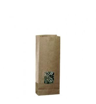 Papirpose til 500 g med vindue - emballage