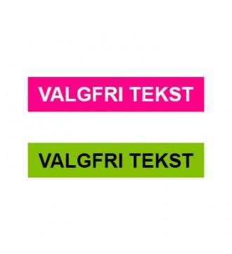 Valgfri baggrundsfarve og tekst til vindue