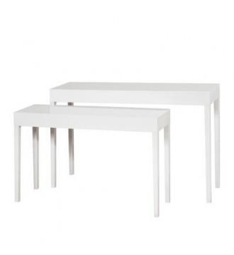 Udstillingsborde i sæt á 2 stk. hvid