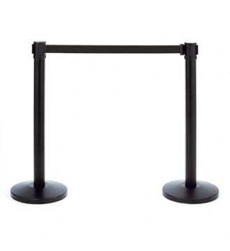 Stander til afspærring inc. 2 meter sort bånd. H:92 cm incl. fodplade. SORT