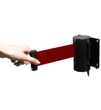 Afspærring 2 meter rødt bånd. SORT
