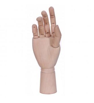 Træhånd. Højre H:25,5 cm