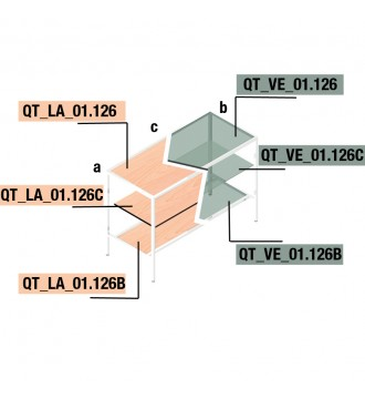 Bordplade til QUATRO bordstel - QUATRO LINE inventarsystem - butiksinventar - www.boxel.dk