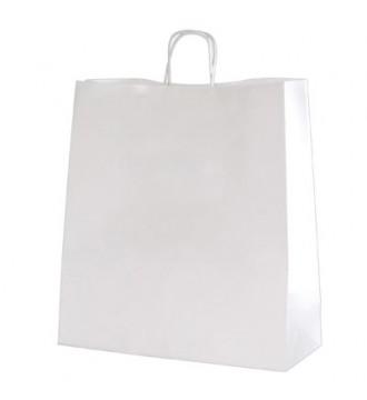 Hvid genbrugspapirpose 45x14x48 cm